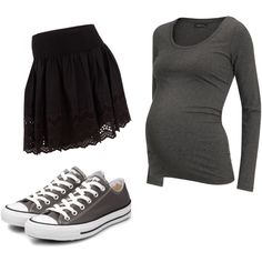 I love maternity clothes that are comfy and playful and still cute!