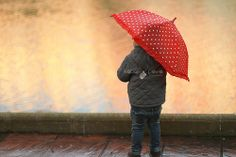 baby under the rain