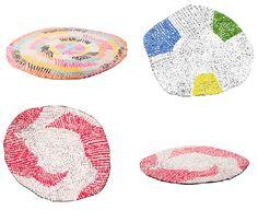 Stephen Burks for Chevalier Edition - Panier rug | chunky stitches, big stitch design, colourful rug design