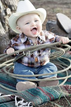 cowboy theme, rope, countri life, baby boys, baby pictures