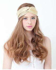 handband :) and her hair!