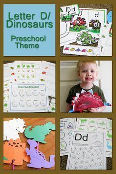 Lots of Dinosaur ideas for a  preschool theme!