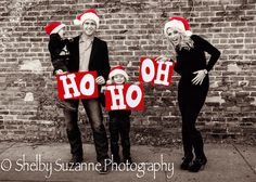 Too cute!  who knows, it might happen again. first to turn things around Family Christmas Pictures & Baby Announcement