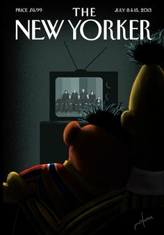 relationship, artists, the new yorker, magazine covers, july 2013, symbol, court, the artist, kid