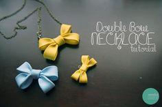 Double Bow Necklace Tutorial @ mintedstrawberry.blogspot.com