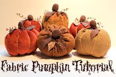 Fall Fabric Pumpkin Tutorial - The Cottage Mama
