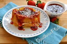 Stuffed French Toast.  Cream Cheese, Strawberry Preserves, easy tomake
