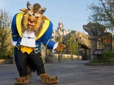 Beast in front of Be Our Guest Restaurant