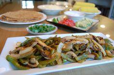 dinner, homemade tortillas, veggi fajita, bell peppers, real foods, healthi, drink recip, healthy foods, health foods