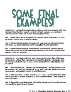 iep goals for social skills | Social Emotional IEP Goal Writing Book - One-Stop Counseling Shop ...