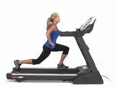 Skateboard lunges, ab wheel, walking lunges oh my! It's time to dust off the old treadmill!! #FitStudio