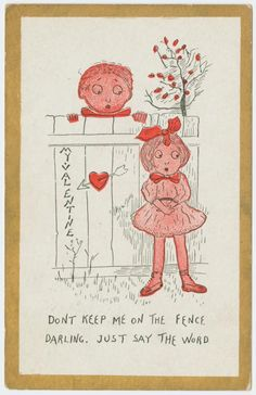 Gorgeous and amusing vintage Valentine's Day postcards from the early 1900s