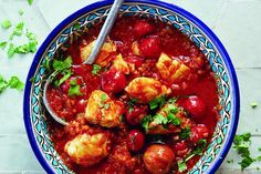 Fish soup with harissa and dried limes