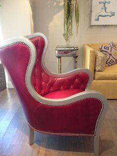 Wesley Hall on Hamilton. Pink metallic chair. Fashion trend - colorful metallics. #HPMKT #stylespotters