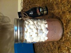 Adult hot cocoa! 10 packs of hot chocolate, marshmallows and one Baileys shot!