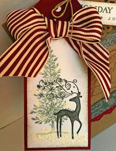Laura's Creative Moments: Holiday Wishes ... a card and a gift bag (Stampin' Up!)