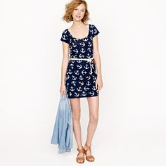 T-shirt dress in dizzy anchors. Holy anchorsss!!!!