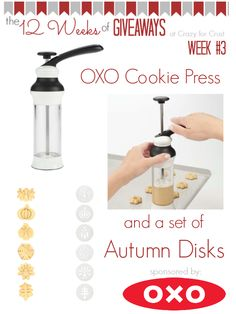 OXO Cookie Press Giveaway at crazyforcrust.com