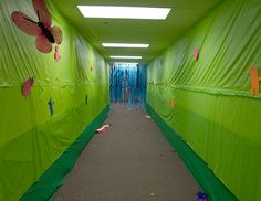 "Kids fell in love with our ""bug squash"" hallway!  We had little critters creeping and crawling all over at Weird Animals VBS!"