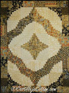 Spiral Log Cabin Quilt Pattern at Castilleja Cotton