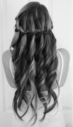 super cute braid and curls