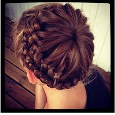 Hair How-To: The Starburst Crown Braid |  Looks like a cool website!!!
