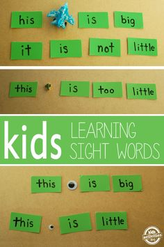 Sight Word Play with Toys - Kids Activities Blog