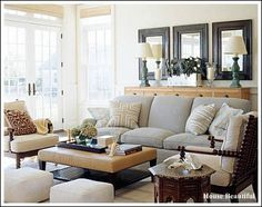 Living Room Ideas! Are you looking for inspiration and ideas? Like the 3 mirrors