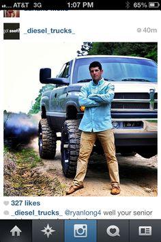 But not dodge!! good senior picture idea for a boy