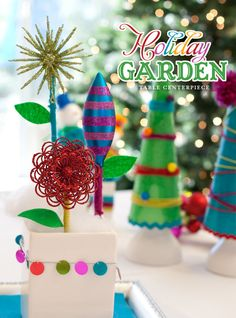 Holiday DIY: Ornament Garden Centerpiece