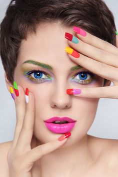 Pretty Painted Fingers| Toes Nail Lacquer| Serafini Amelia| Colorful Acrylic Nails