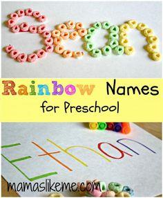 Mamas Like Me: Rainbow Names - Color Sorting Name Practice
