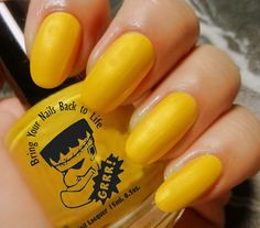 Yellow nail polish. Nail art. Nail design. #ShopSimple