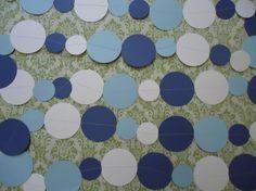Bubble circle garland -