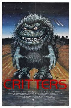 critter, movi poster, funny movies, monster, horror movies, old school, childhood, film posters, horror films