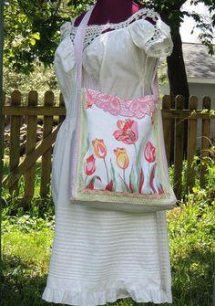 floral bag, bag shabbi, chic purs, bag bag, upcycl bag