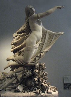 Statue of veiled woman at V & A Museum