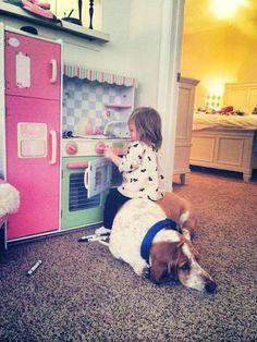 Sioux Chef kitchen, dog, kid