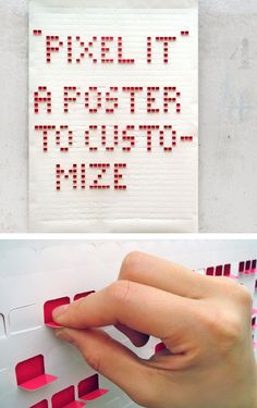 pixel it, a poster to customize again and again