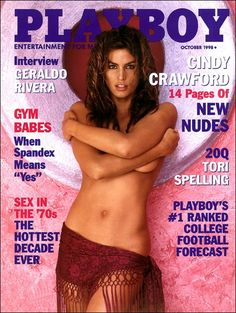 Playboy magazine cover October 1998