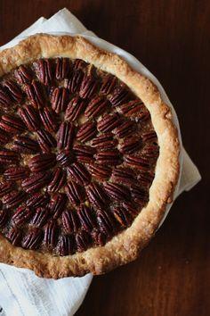 Chocolate Pecan Pie with Bourbon Maple Whipped Cream