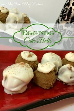 Eggnog Cake Balls. #HolidayBaking #ChristmasRecipes