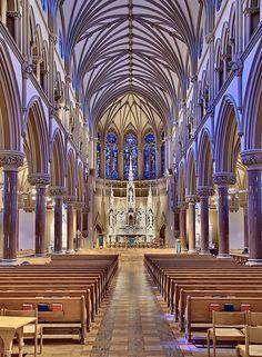 Saint Francis Xavier Church, at Saint Louis University, in Saint Louis, Missouri, USA - nave by msabeln, via Flickr