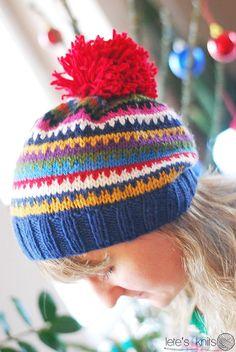 Scrappy Ski Hat – a free pattern   Lete's Knits