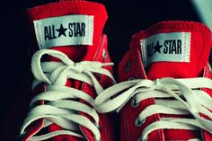 ready to run with red all*star sneakers