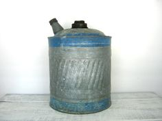 Galvanized Vintage Fuel Can #vintage #guy stuff @Christa Vickers Gee