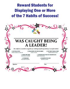Leader In Me 7 Habits Kit - Bookmarks, Certificates, and G