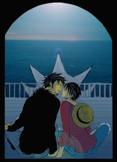Trafalgar Law x Monkey D. Luffy #one piece #lawlu