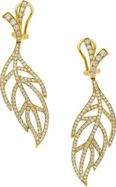 Diamond and Gold Earrings by Luca Carati diamond, haut earring, gold earrings