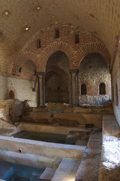 The ancient bath at Cefala Diana, Sicily, built by the Moors, believed to be 12th century.  #HighMiddleAges #Sicily